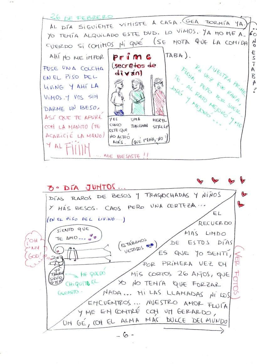 """Mi proyecto en """"Narrar en viñetas con un boli"""" (Faltan algunas páginas, pero las omití porque llevan fotos)  6"""