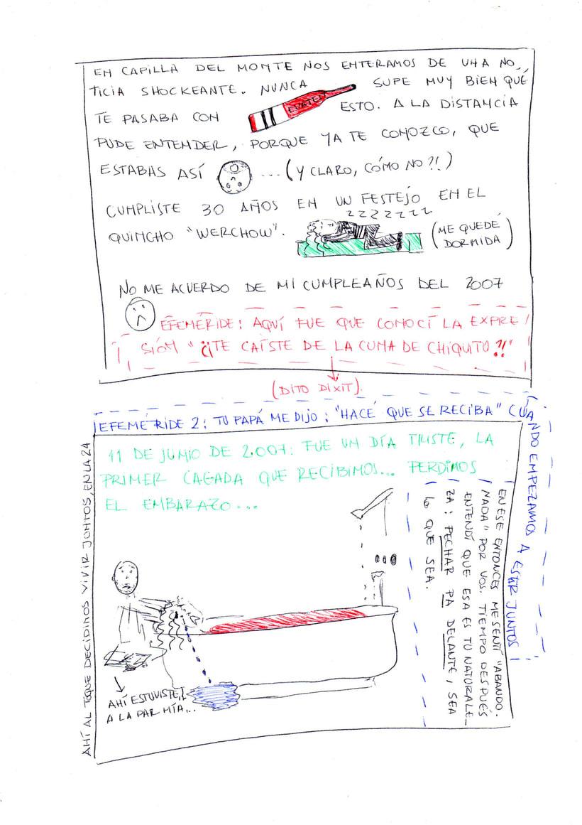 """Mi proyecto en """"Narrar en viñetas con un boli"""" (Faltan algunas páginas, pero las omití porque llevan fotos)  7"""