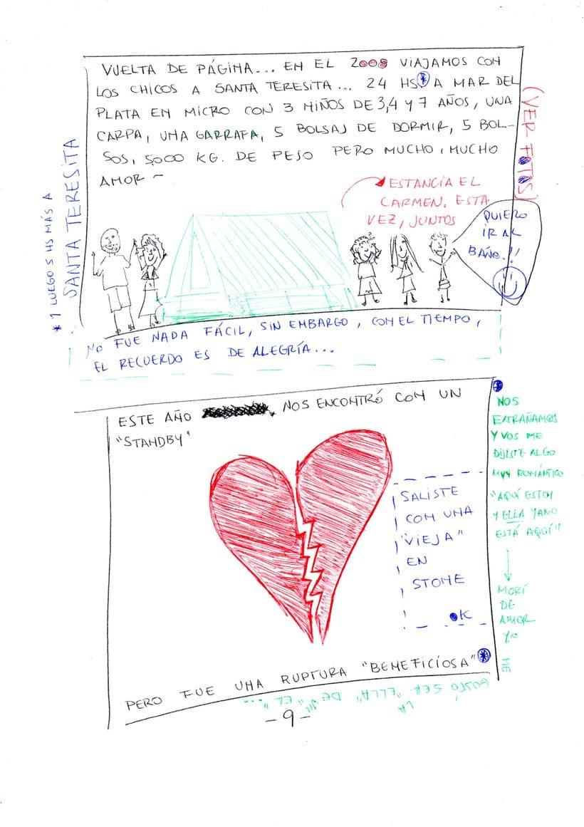 """Mi proyecto en """"Narrar en viñetas con un boli"""" (Faltan algunas páginas, pero las omití porque llevan fotos)  8"""