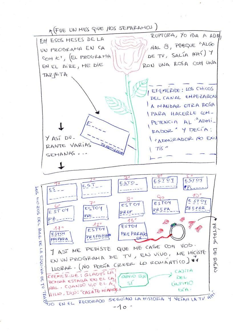 """Mi proyecto en """"Narrar en viñetas con un boli"""" (Faltan algunas páginas, pero las omití porque llevan fotos)  9"""
