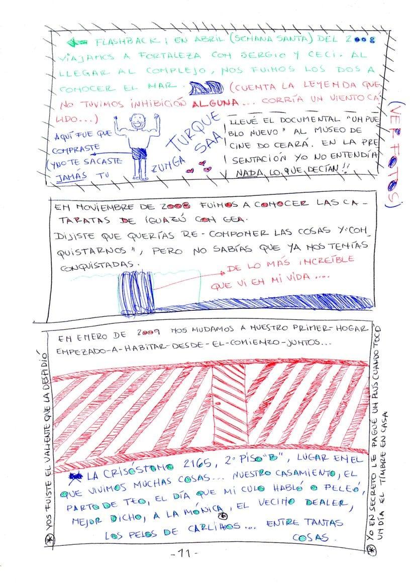 """Mi proyecto en """"Narrar en viñetas con un boli"""" (Faltan algunas páginas, pero las omití porque llevan fotos)  10"""