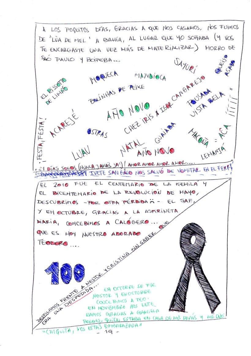 """Mi proyecto en """"Narrar en viñetas con un boli"""" (Faltan algunas páginas, pero las omití porque llevan fotos)  15"""