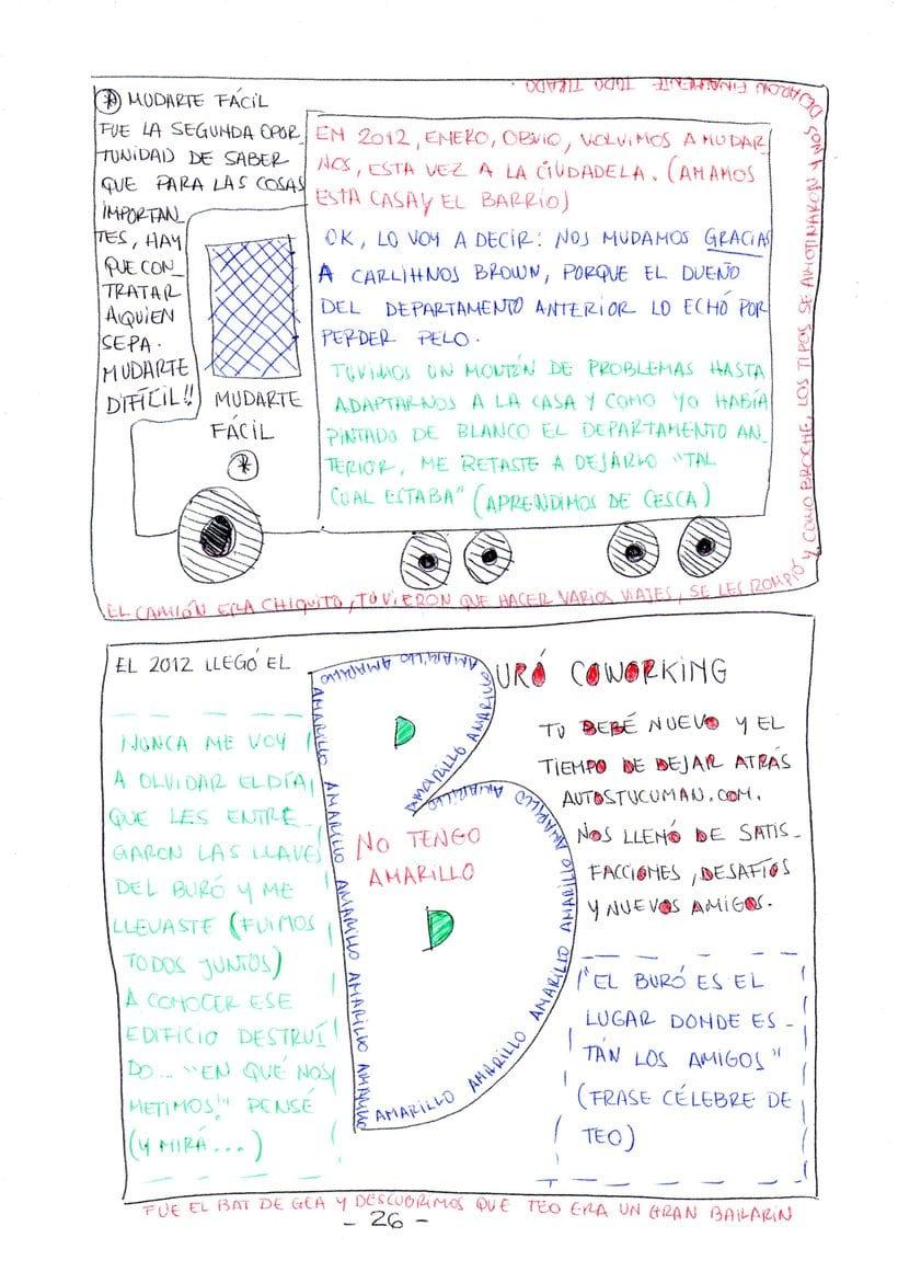 """Mi proyecto en """"Narrar en viñetas con un boli"""" (Faltan algunas páginas, pero las omití porque llevan fotos)  17"""