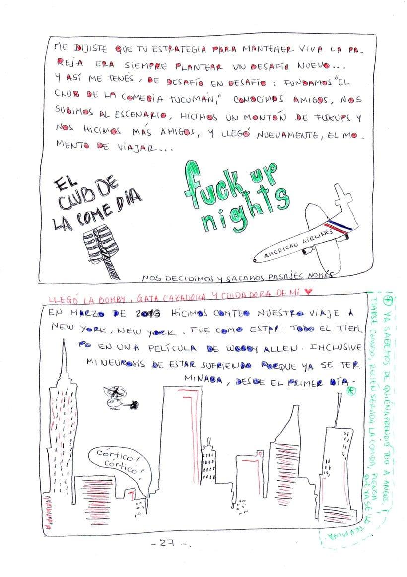 """Mi proyecto en """"Narrar en viñetas con un boli"""" (Faltan algunas páginas, pero las omití porque llevan fotos)  18"""