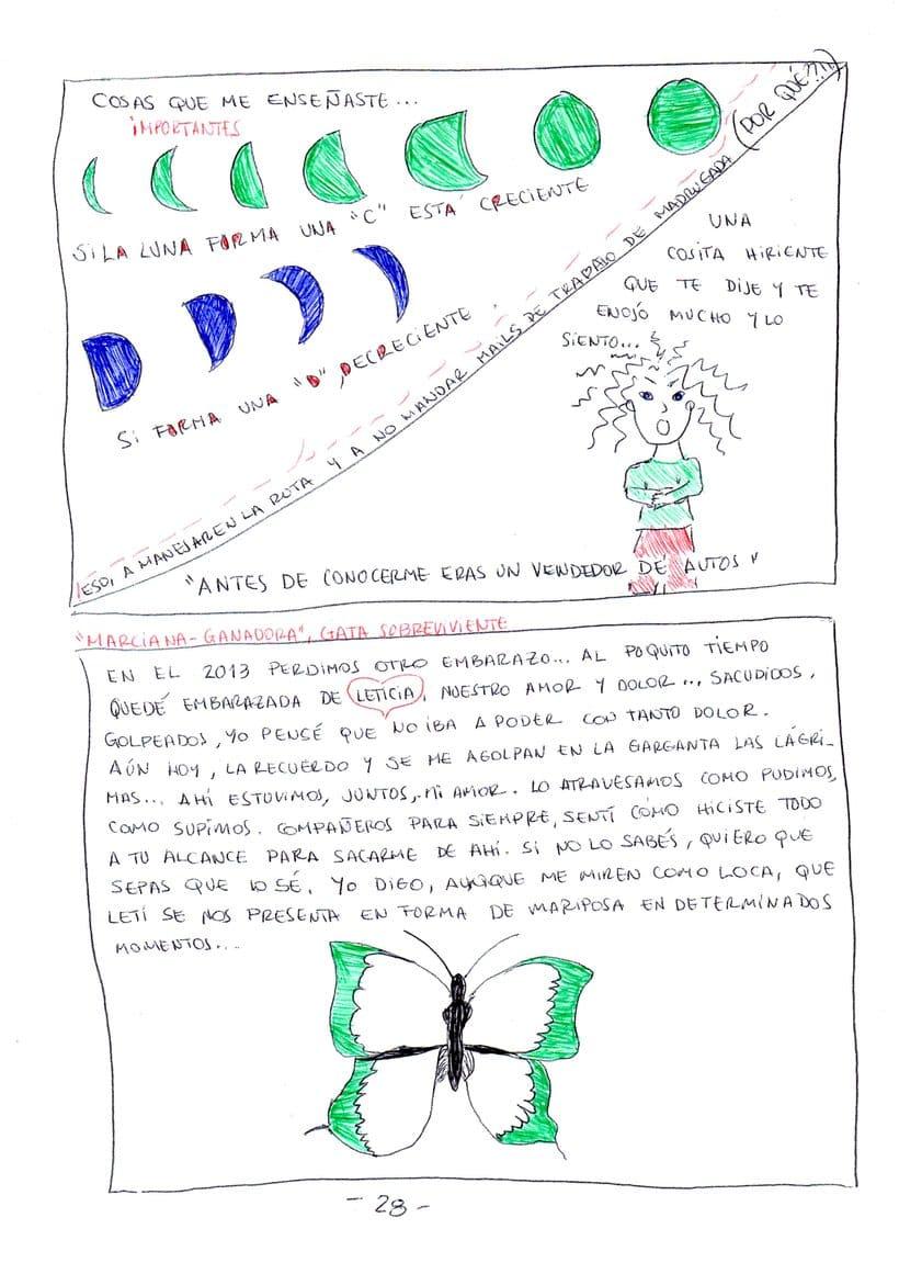 """Mi proyecto en """"Narrar en viñetas con un boli"""" (Faltan algunas páginas, pero las omití porque llevan fotos)  19"""