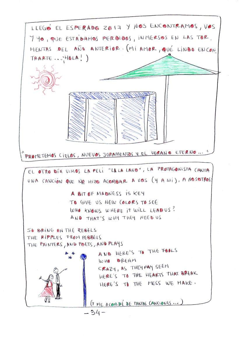 """Mi proyecto en """"Narrar en viñetas con un boli"""" (Faltan algunas páginas, pero las omití porque llevan fotos)  22"""