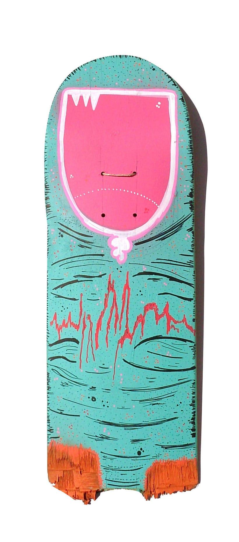 Skateboard • Dedo verde #Skateart 0
