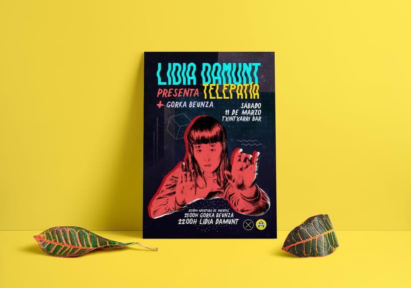 Cartel para concierto: Lidia Damunt + Gorka Beunza -1