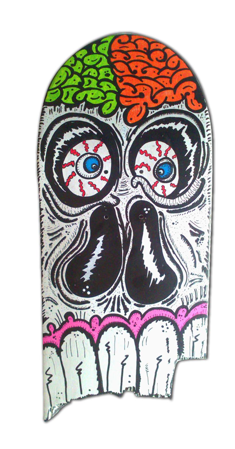 Skateboard • Broken Face #SkateArt -1