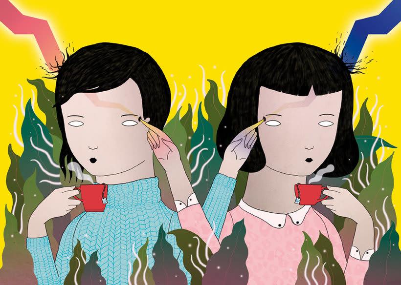 La ilustración tierna y surrealista de Liébana Goñi 3