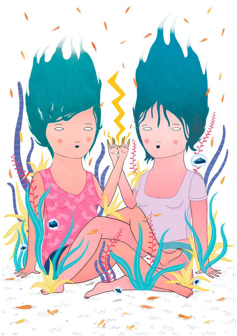 La ilustración tierna y surrealista de Liébana Goñi 5