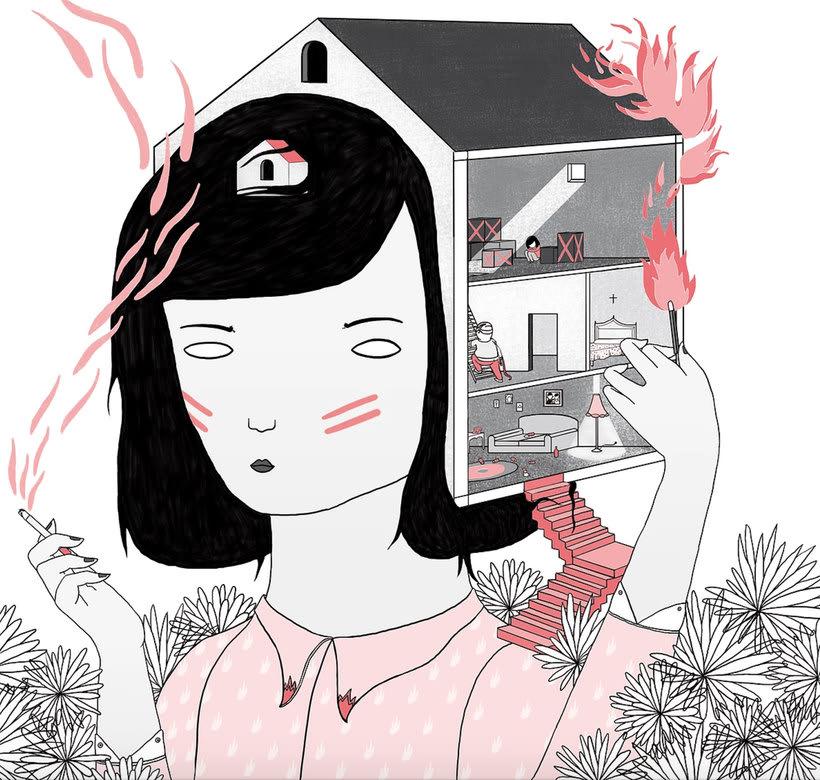La ilustración tierna y surrealista de Liébana Goñi 6