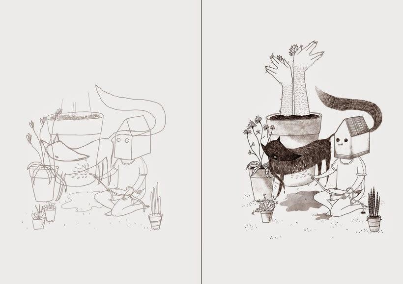 La ilustración tierna y surrealista de Liébana Goñi 7