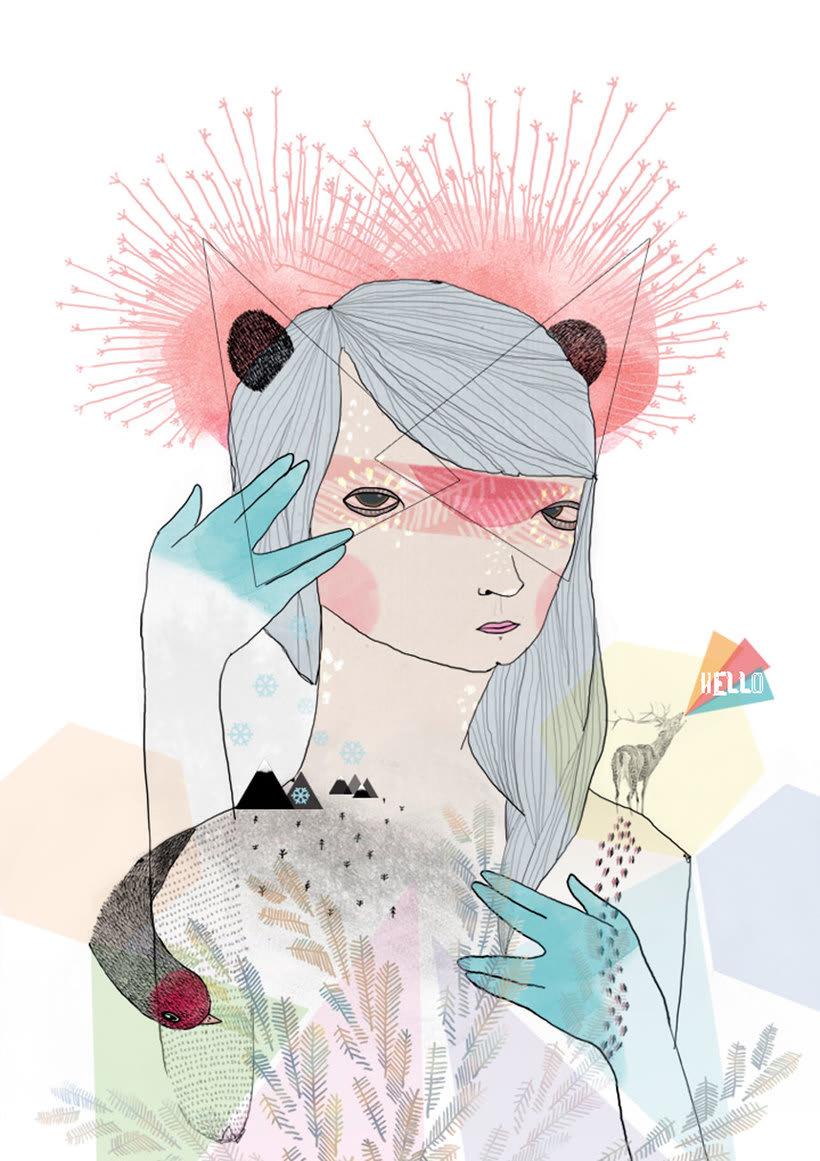 La ilustración tierna y surrealista de Liébana Goñi 8