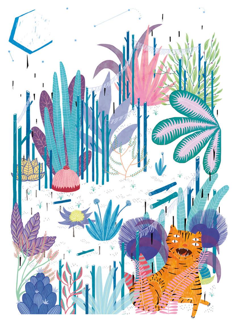 La ilustración tierna y surrealista de Liébana Goñi 10