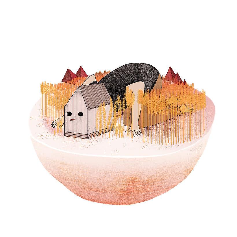 La ilustración tierna y surrealista de Liébana Goñi 12