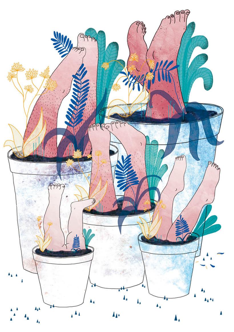 La ilustración tierna y surrealista de Liébana Goñi 13