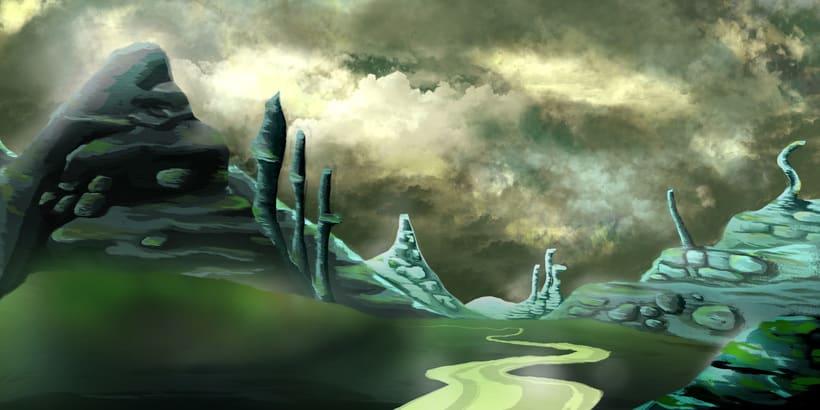 Mi Proyecto del curso: Matte Painting: creando mundos fotorrealistas; Del boceto a La Llama 0