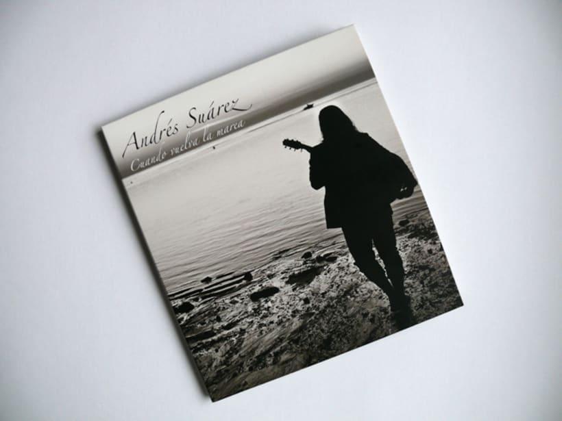 Maquetación y Diseño disco de Andrés Suárez -1