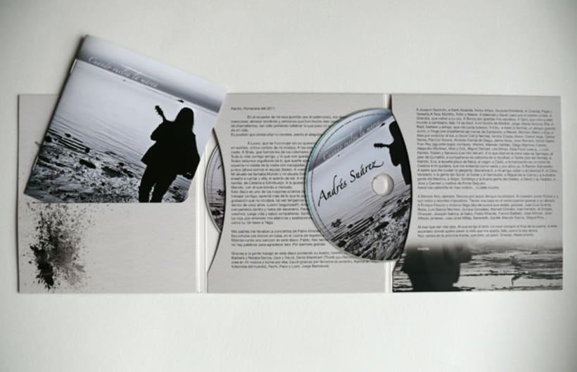 Maquetación y Diseño disco de Andrés Suárez 0