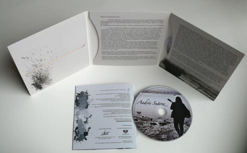 Maquetación y Diseño disco de Andrés Suárez 2