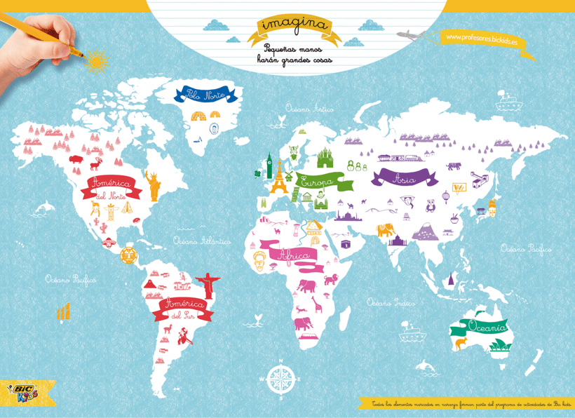 World Map of cultures for BicKids 0