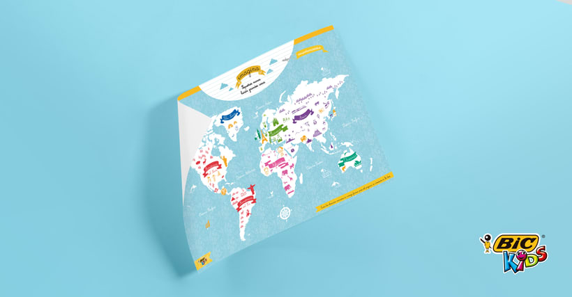 World Map of cultures for BicKids 7