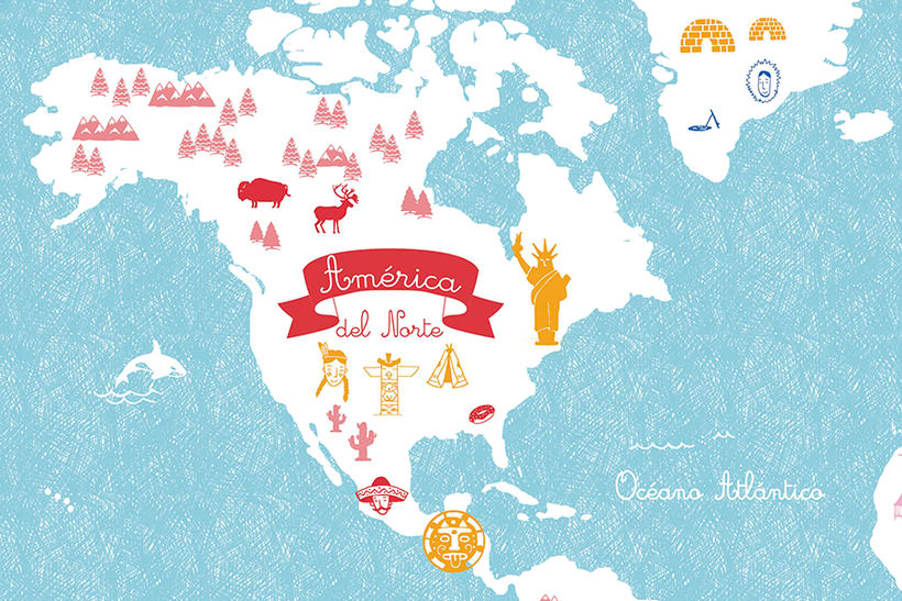World Map of cultures for BicKids 2