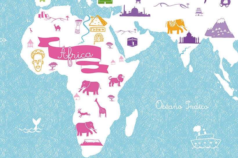 World Map of cultures for BicKids 4