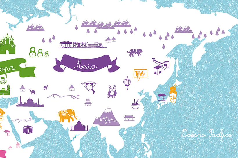 World Map of cultures for BicKids 5