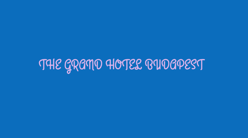 The Grand Hotel Budapest - Motion Graphic 8