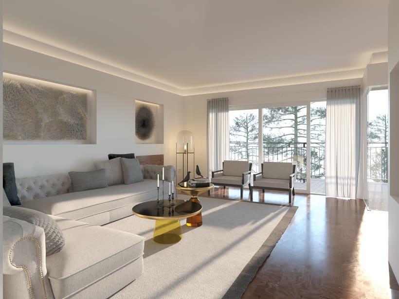 Opciones diseño interior salón en Madrid 1