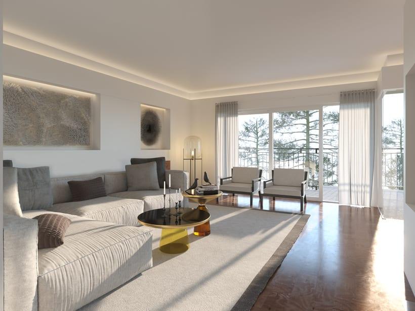 Opciones diseño interior salón en Madrid 2