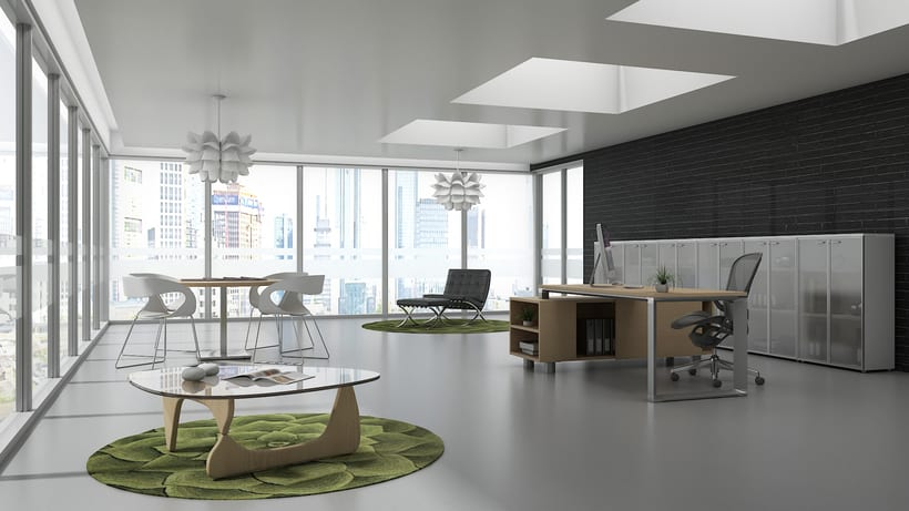 Dise o de oficina minimalista domestika for Diseno de interiores oficinas pequenas