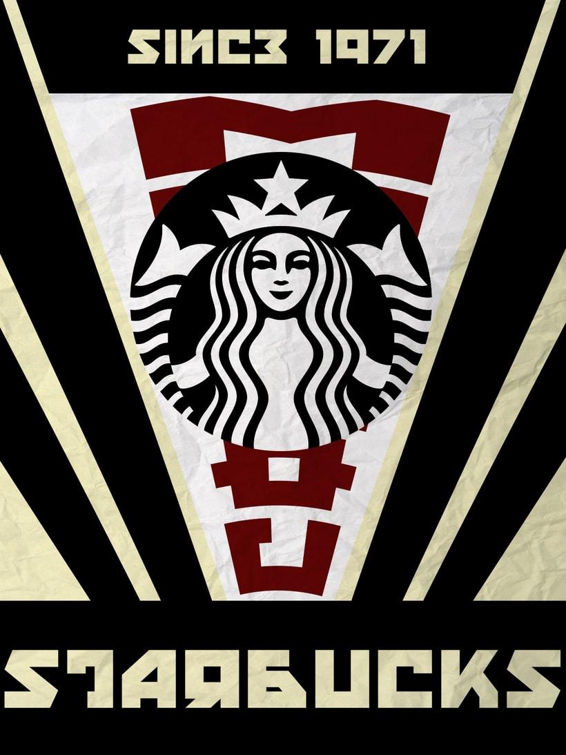 Cartel inspiración constructivista (Starbucks) -1