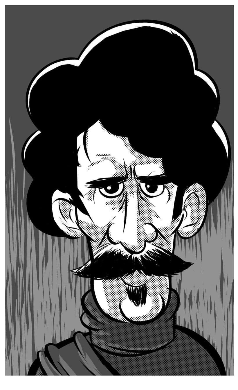 Viajero del tiempo con bigote. -1