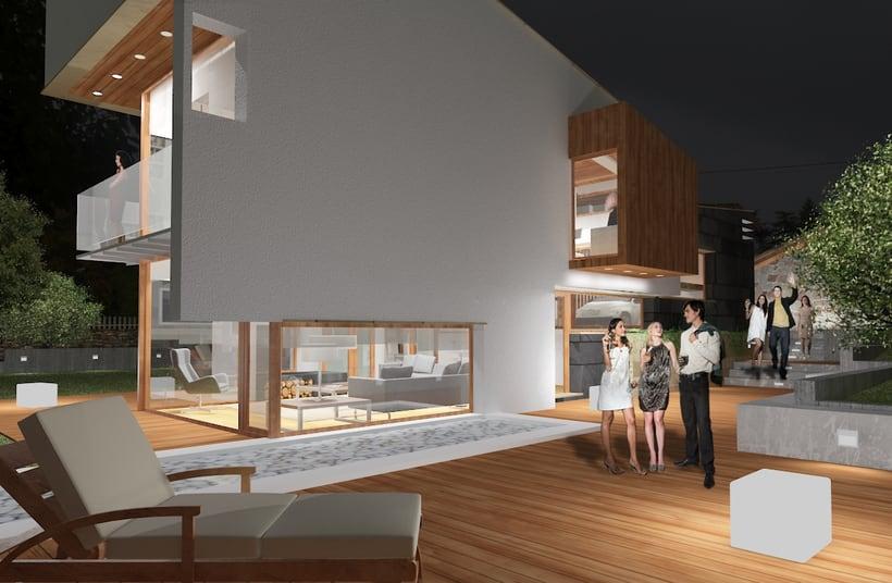 Infografías 3D para vivienda unifamiliar en Las fraguas, Cantabria 0