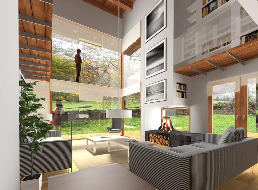 Infografías 3D para vivienda unifamiliar en Las fraguas, Cantabria 2