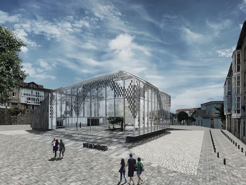 Infografías 3d para Concurso Centro Sociocultural en el Mercado de Abastos de Reinosa, Cantabria -1