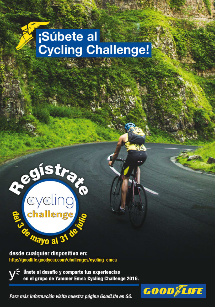Poster Cycling challenge 0