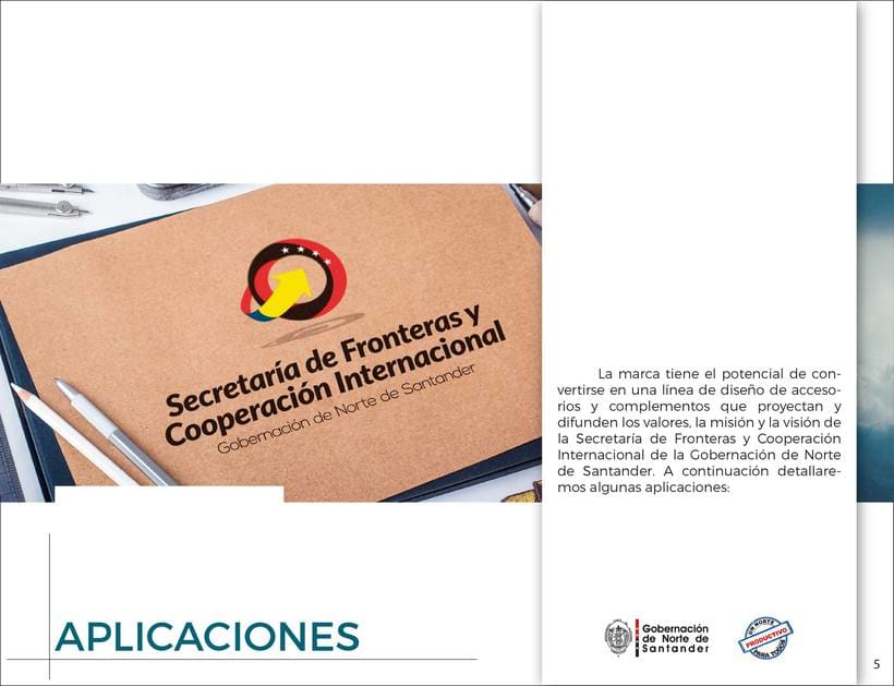 Manual de Identidad Visual Corporativa (Secretaría de Fronteras y Cooperación Internacional) 4