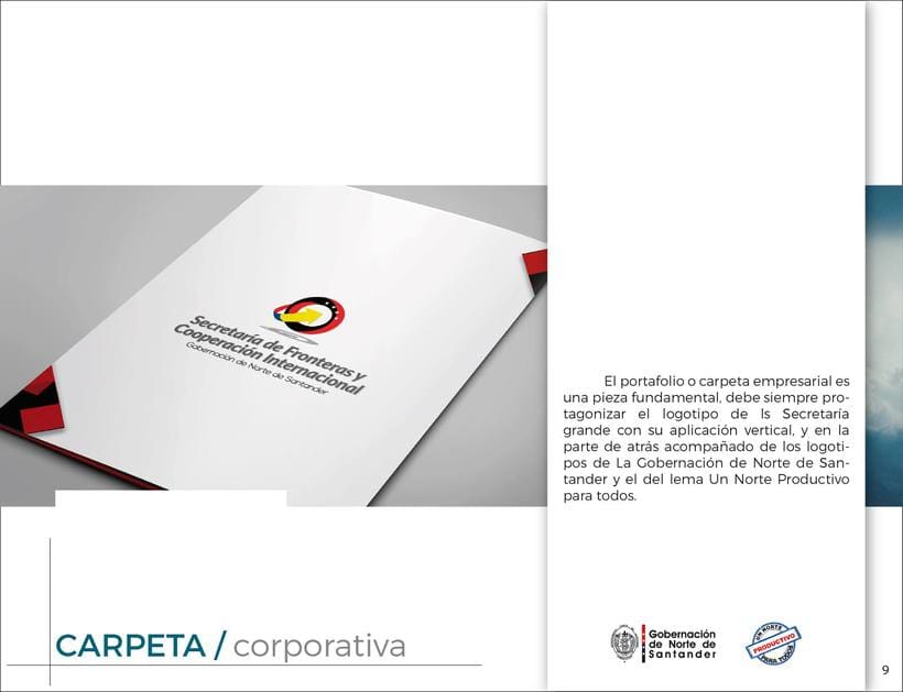 Manual de Identidad Visual Corporativa (Secretaría de Fronteras y Cooperación Internacional) 8