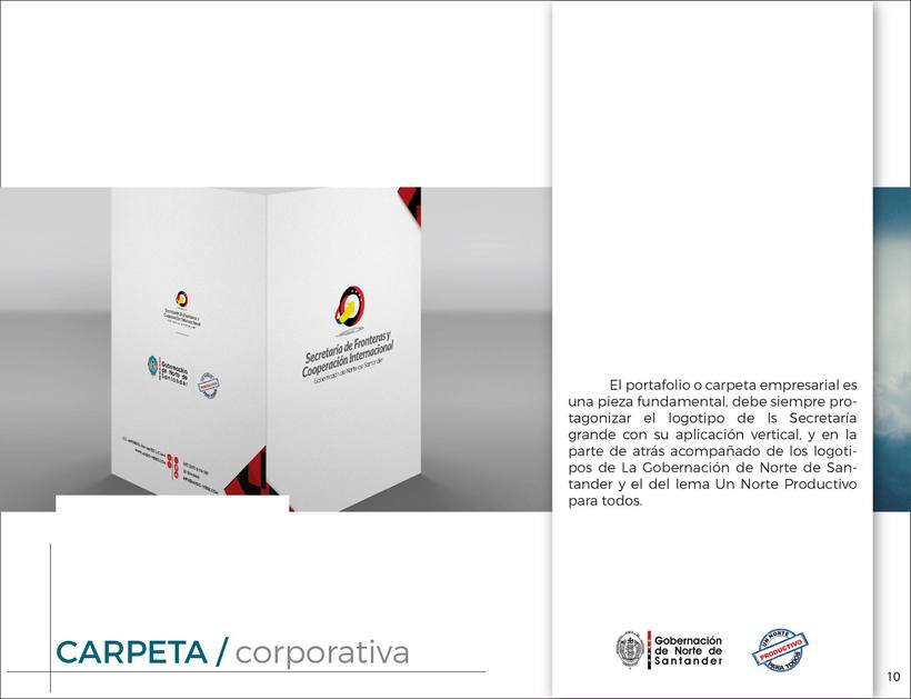 Manual de Identidad Visual Corporativa (Secretaría de Fronteras y Cooperación Internacional) 9