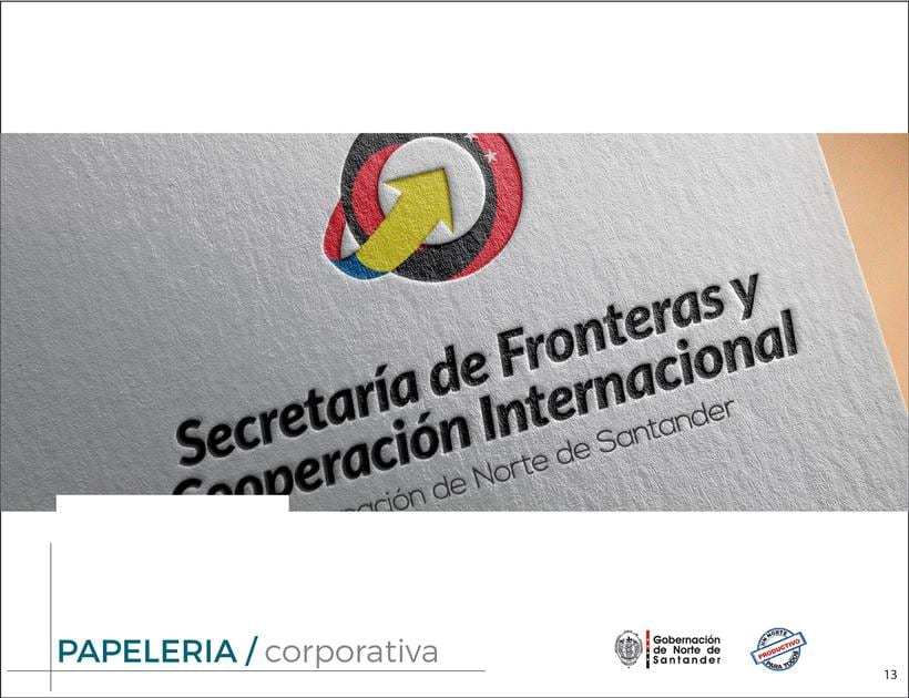 Manual de Identidad Visual Corporativa (Secretaría de Fronteras y Cooperación Internacional) 12
