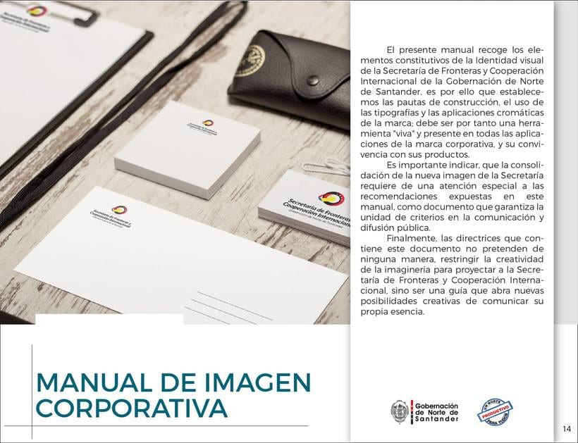 Manual de Identidad Visual Corporativa (Secretaría de Fronteras y Cooperación Internacional) 13