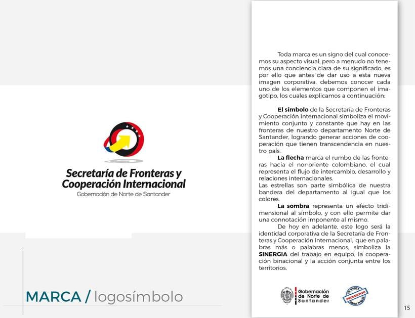 Manual de Identidad Visual Corporativa (Secretaría de Fronteras y Cooperación Internacional) 3
