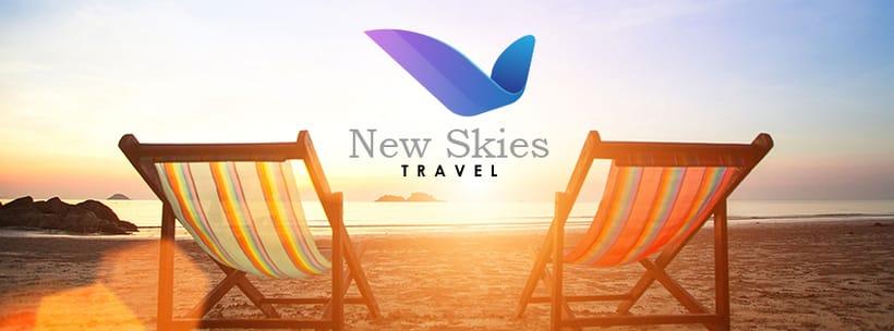 New Skies: Diseño del logo e imagen para esta agencia de turismo -1