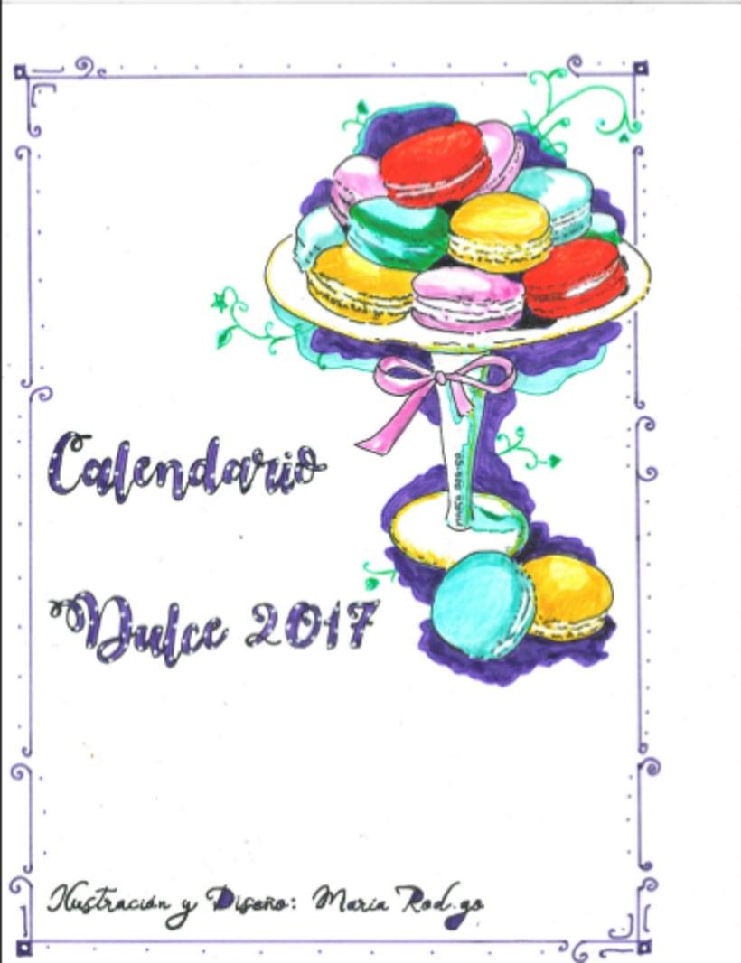 Calendario Dulce 2017 con Recetas Ilustradas. María Rod.go & Company... 0