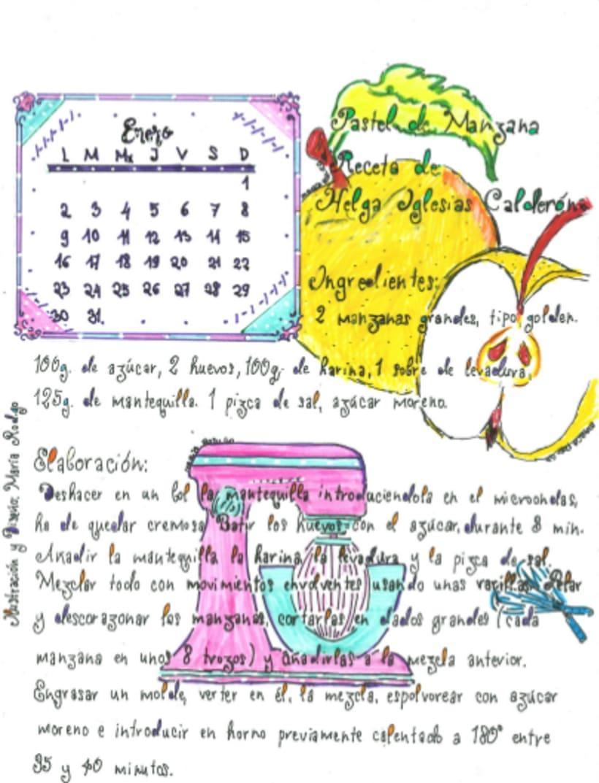 Calendario Dulce 2017 con Recetas Ilustradas. María Rod.go & Company... 1