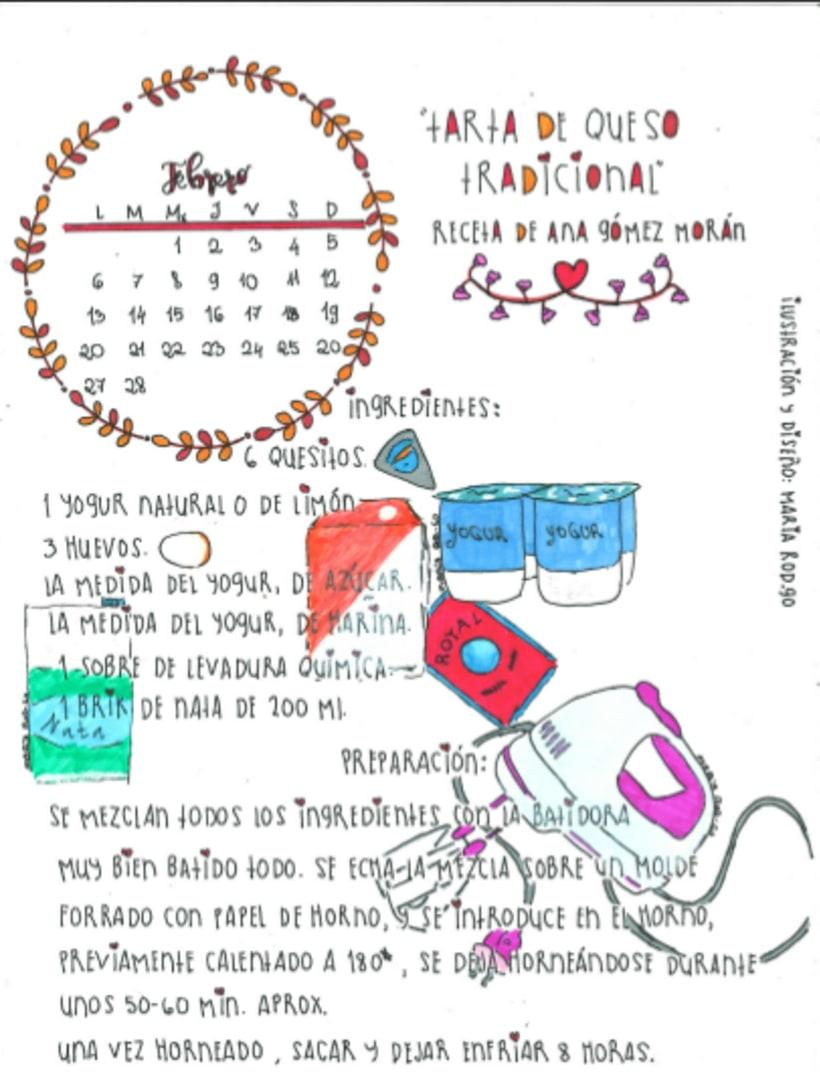 Calendario Dulce 2017 con Recetas Ilustradas. María Rod.go & Company... 2